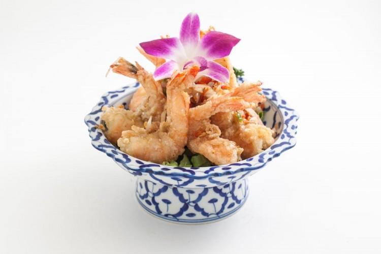Crevettes sautées à l'ail et au poivre