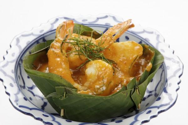Fruits de mer au curry rouge