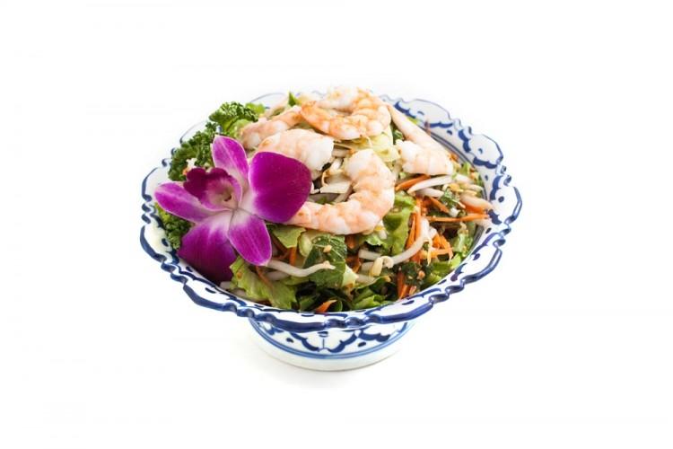 Salade thai aux crevettes