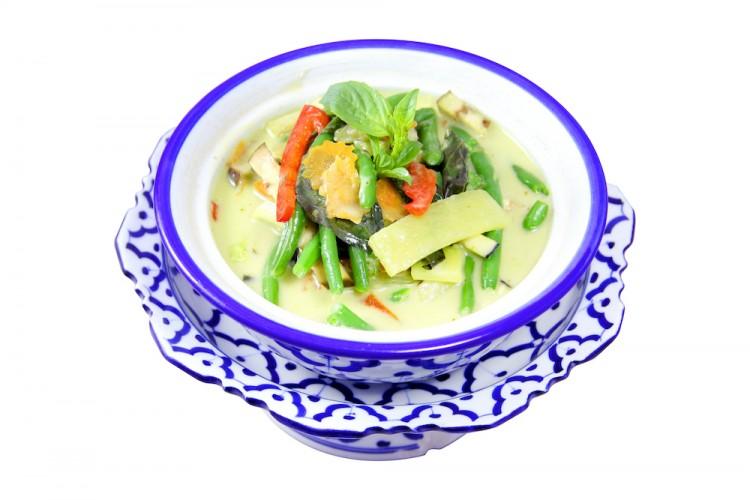 Assortiment de légumes au curry vert...