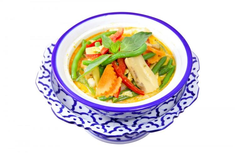 Assortiment de légumes au curry rouge...