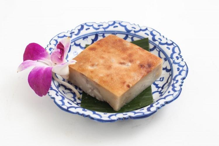 Flan thaïlandais au Taro et au lait...